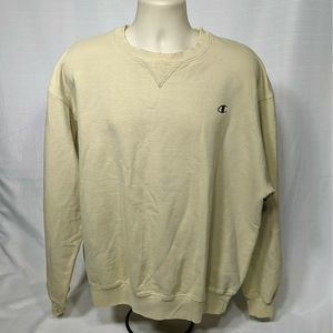 Vintage Champion Solid Pullover Crew Neck Sweater